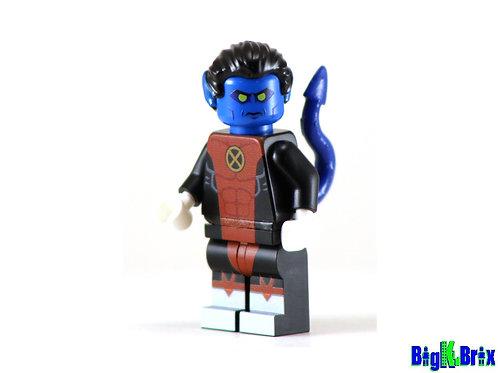 NIGHTCRAWLER Comic Vers Custom Printed on Lego Minifigure! Marvel Xmen