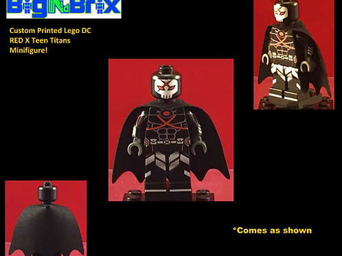 Red X Teen Titans DC Custom Printed Minifigure