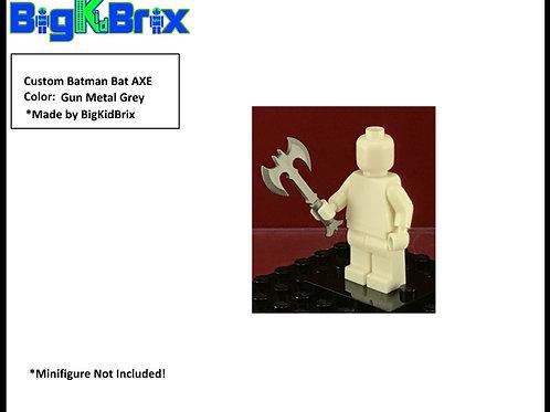 Batman GUN METAL GREY Custom Bat Axe for Lego Batman Minifigures Minifigs