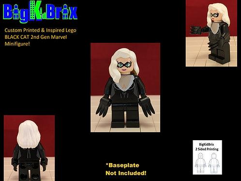 BLACK CAT 2nd Gen Custom Printed & Inspired Lego Marvel Minifigure!