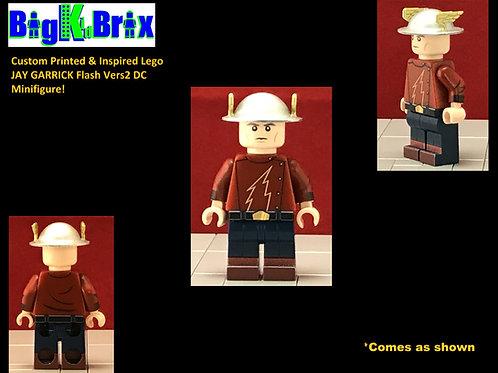 JAY GARRICK Vers 2 Original Flash Custom Printed & Inspired DC Lego Minifigure