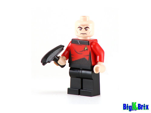 CAPTAIN JEAN LUC PICARD Custom Printed on Lego Minifigure! Star Trek
