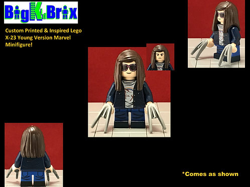 X-23 YOUNG Version Custom Printed & Inspired Marvel Lego Minifigure