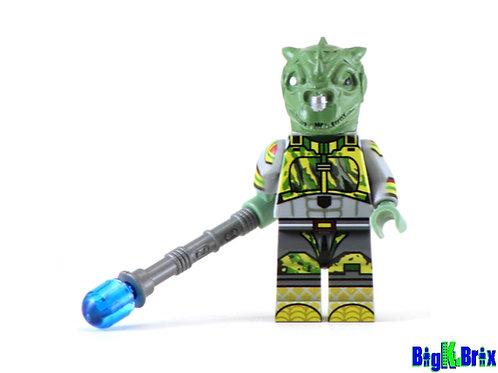 QYZEN FESS Custom Printed on Lego Minfigure! Star Wars Trandoshan
