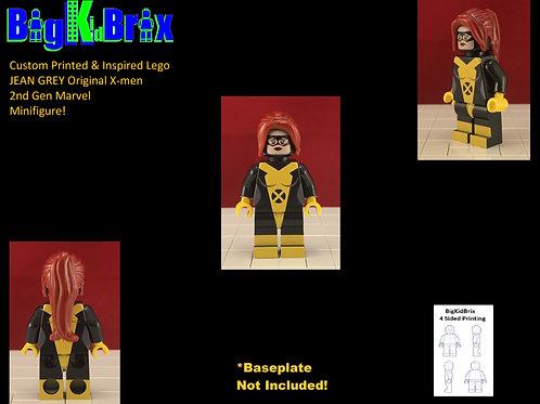JEAN GREY Original Xmen Custom Printed & Inspired Lego Marvel Minifigure