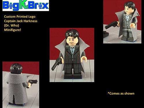 Captain Jack Hardness Dr Who Custom Printed Minfigure