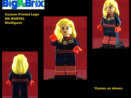MS CAPTAIN Custom Printed & Inspired Lego Marvel Minifigure