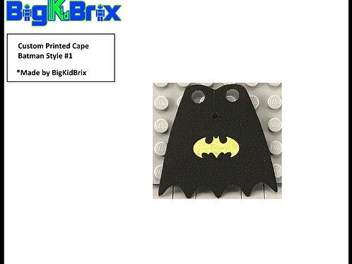 BATMAN Cape Style #1 Custom Printed for Lego Minifigure Minifigs