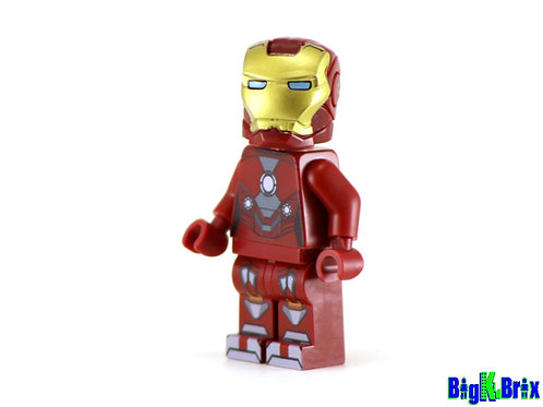 IRON MAN Mark 19 Tiger Custom Printed on Lego Minifigure! Marvel