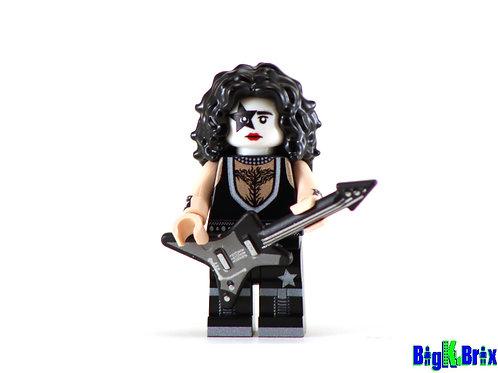 PAUL STANLEY Custom Printed on Lego Minifigure! KISS Musician
