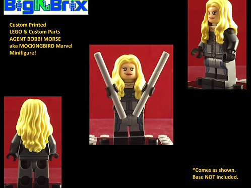 Agent Bobbie Morse Marvel Shield Agent Custom Printed Minifigure