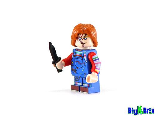 CHUCKY Custom Printed on Lego Minifigure! HORROR