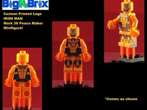 Iron Man Mark 36 Peace Maker Marvel Custom Printed Minifigure