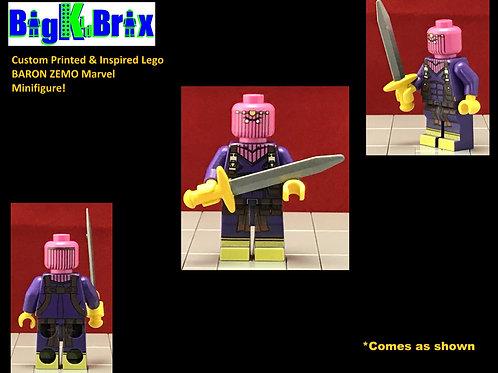 BARON ZEMO Custom Printed & Inspired Marvel Lego Minifigure