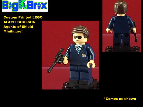 Agent Coulson Marvel Shield Agent Custom Printed Minifigure