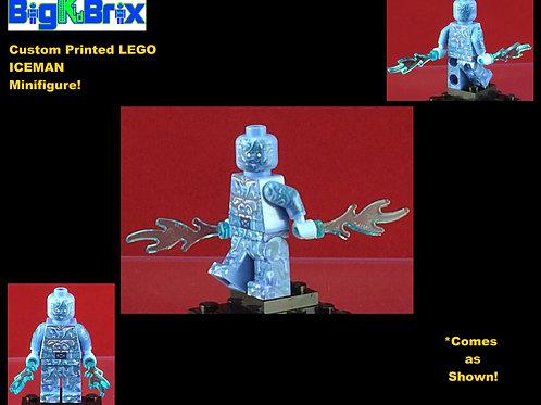 Iceman Marvel Xmen Custom Printed Minifigure