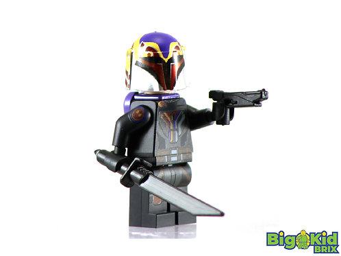 SABINE WREN Epic Version w/ Jetpack Custom Printed on Lego Minifigure! Star Wars