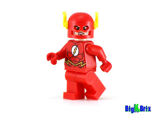 FLASH Red Suit Custom Printed & Inspired Lego DC Minifigure