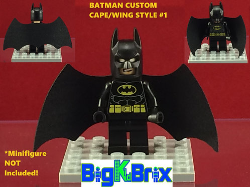 copy of BATMAN Winged Cape Style #1 Custom Made for Lego Minifigures Minifigs