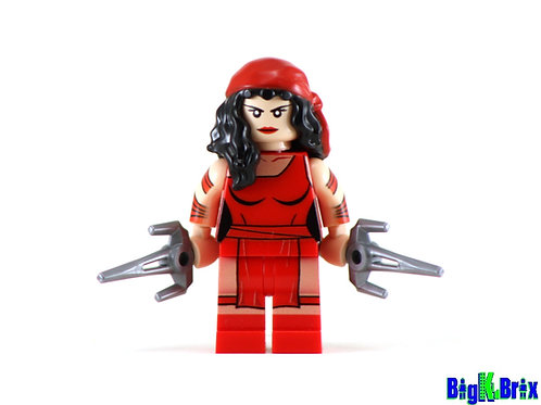 ELEKTRA Custom Printed on Lego Minifigure! Marvel