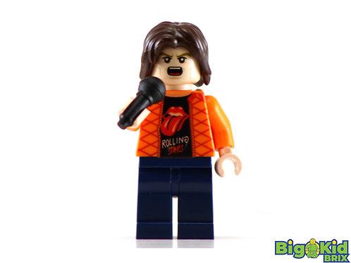 MICK JAGGER Custom Printed Lego Minifigure! Musician