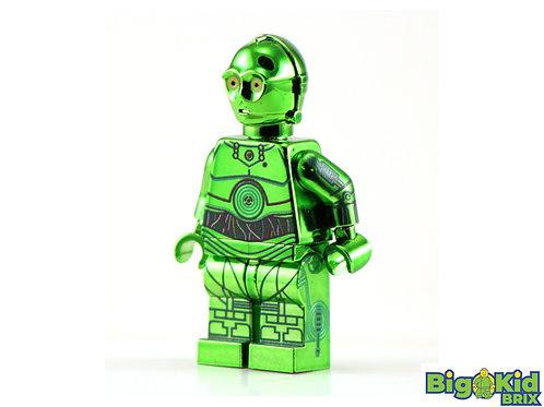 3PO JABBA's DROID CHROME GREEN Custom Printed on Lego Minifigure! Star Wars*RARE