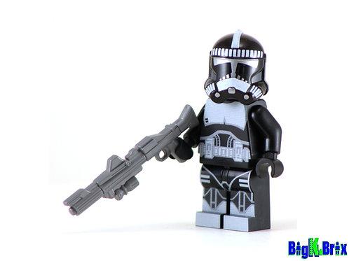 SHOCK TROOPER BLACK Custom Printed on Lego Minifigure! Star Wars
