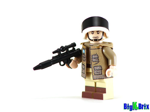 CAPTAIN ANTILLES Custom Printed on Lego Minifigure! Star Wars