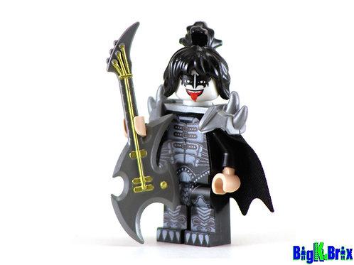 GENE SIMMONS Custom Printed on Lego Minifigure! KISS Musician