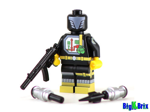 B.A.T. (Battle Android Trooper) GI Joe Custom Printed & Inspired Lego Minifigure