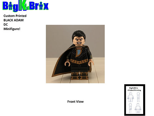 BLACK ADAM Custom Printed Lego DC Inspired Minifigure!