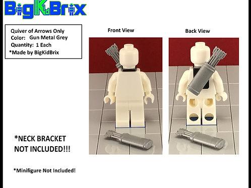 Quiver of Arrows GUN METAL GREY style for Lego Minifigures Minifigs
