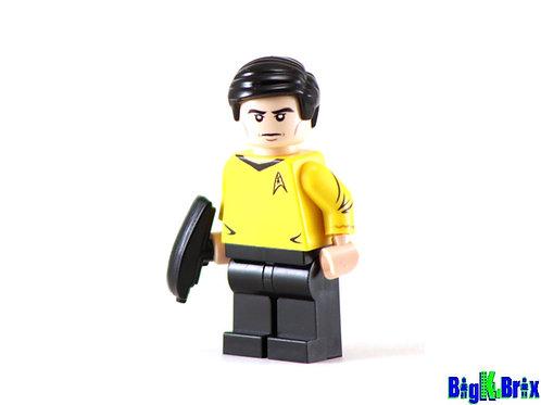 SULU Custom Printed on Lego Minifigure! Star Trek