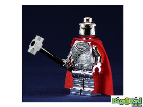 STEEL SUPERMAN CHROME Custom Printed on Lego Minifigure! DC