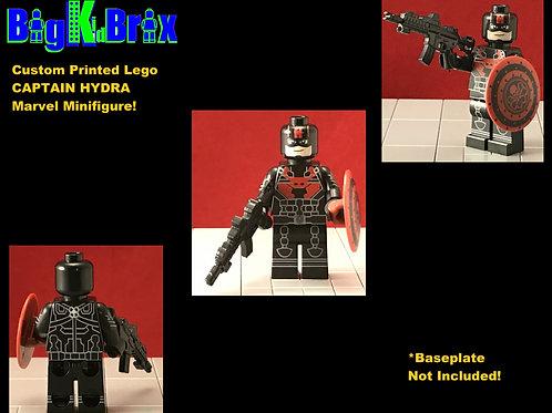 CAPTAIN HYDRA Marvel Custom Printed Lego Minifigure
