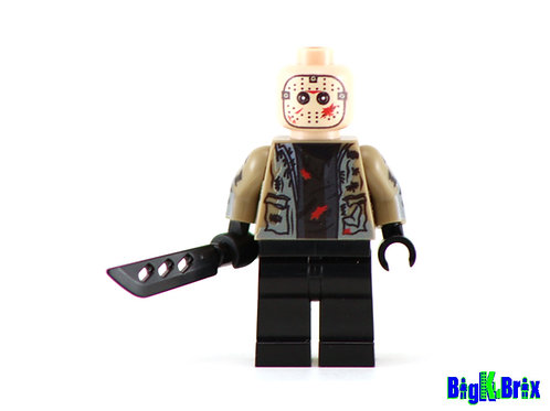 JASON Friday the 13th Custom Printed & Inspired Lego Horror Minifigure!