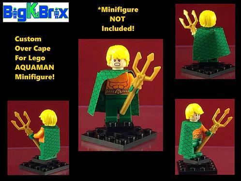 Cape Aquaman Style #2 Over Shoulder Custom for Lego Minifigures Minifigs