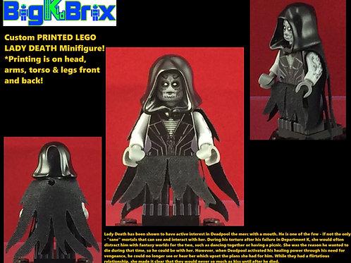 Lady Death Marvel Custom Printed Lego Minifigure