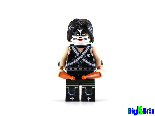 PETER CRISS Custom Printed on Lego Minfiigure! KISS Musician
