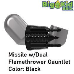 Missile w Dual Flame Gauntlet BLACK