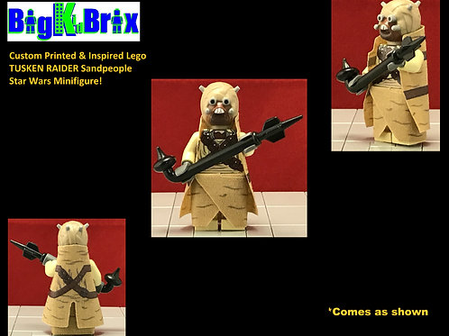 TUSKEN RAIDER Custom Printed & Inspired Star Wars Lego Minifigure