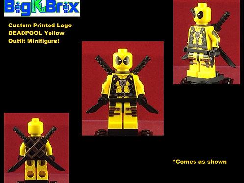 Deadpool Yellow Lantern Marvel Custom Printed Minifigure