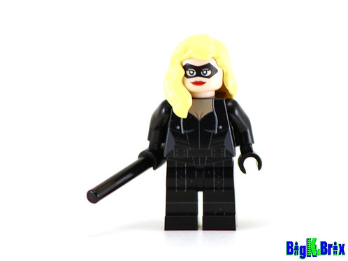 BLACK CANARY Custom Printed & Inspired Lego DC Minifigure