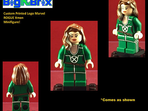 Rogue Marvel Xmen Custom Printed Minifigure