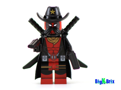 DEADPOOL KID COWBOY Custom Printed Lego Marvel Inspired Minifigure!