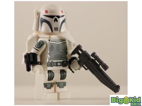 MANDALORIAN EXECUTIONER WHITE Custom Printed on Lego Minifigure! Star Wars