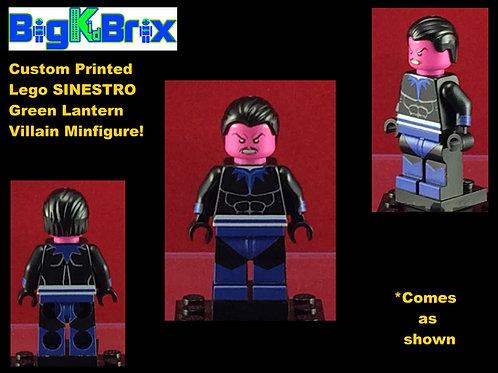 Sinestro Yellow Lantern Corps DC Custom Printed Minifigure