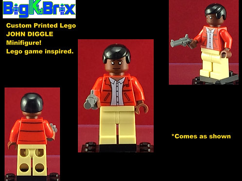 John Diggle Lego Game Inspired DC Custom Printed Minifigure