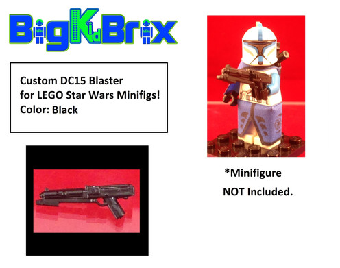 DC15 BLACK Custom Blaster for Star Wars Lego Minifigures Minifigs