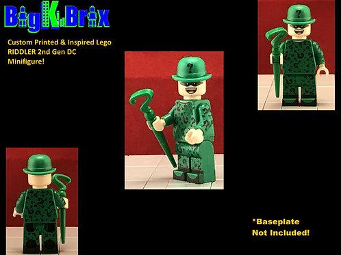 Riddler 2nd Gen DC Custom Printed & Inspired Lego Minifigure